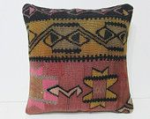 kilim pillow 18 tapestry pillow cover boho bedroom chair pillow case large floor cushion urban throw pillow ethnic rug bed pillow sham 26270