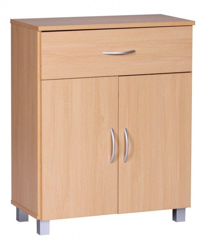 WOHNLING Sideboard Buche 60 x 75 cm mit 2 Türen & 1 Schublade Möbel & Einrichtung / Esszimmer Jetzt bestellen unter: https://moebel.ladendirekt.de/wohnzimmer/schraenke/sideboards/?uid=99e7f81a-f520-5118-aaff-f6061171c0d6&utm_source=pinterest&utm_medium=pin&utm_campaign=boards