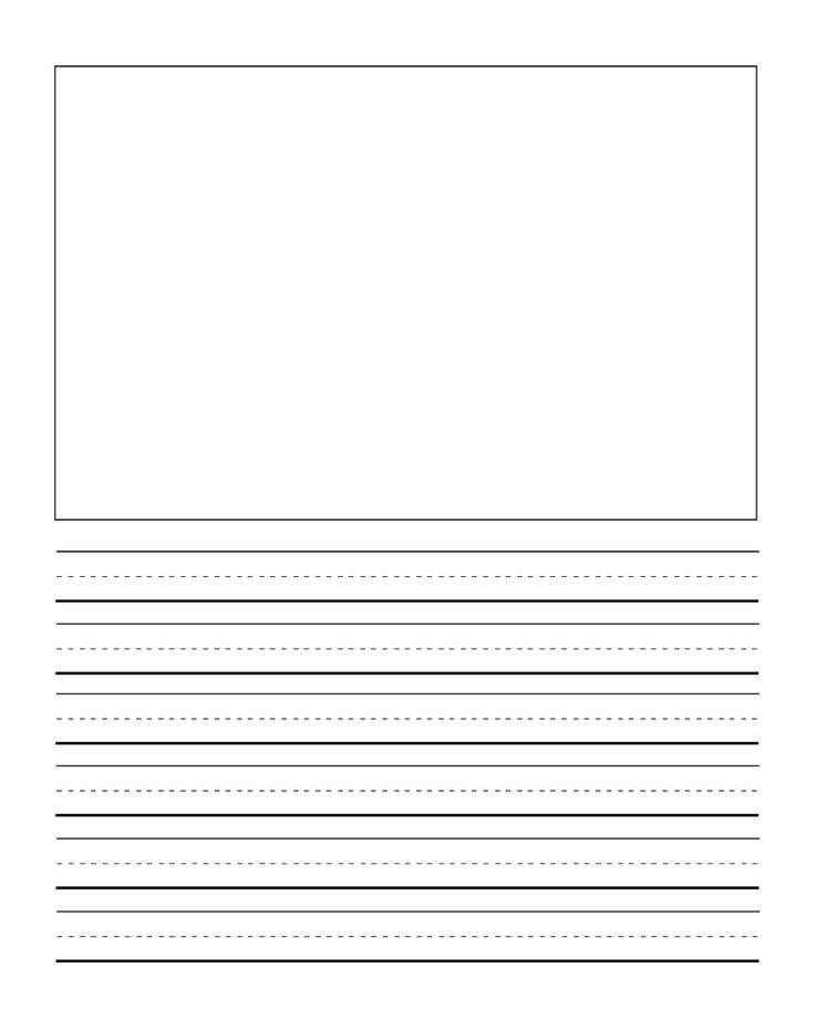 25 best ideas about Handwriting worksheets – Lined Paper with Drawing Box