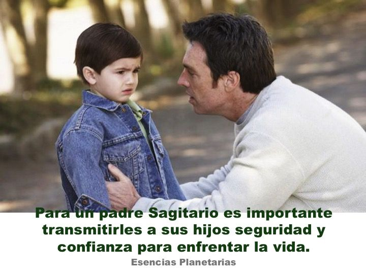 #papa #Sagitario #Horoscopo #zodiaco #habilidades #vida #seguridad #retos #hijos #familia #enfrentar