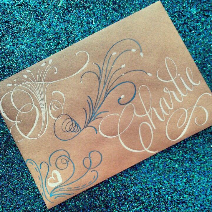 Custom Calligraphy Envelope Envelopes Pinterest