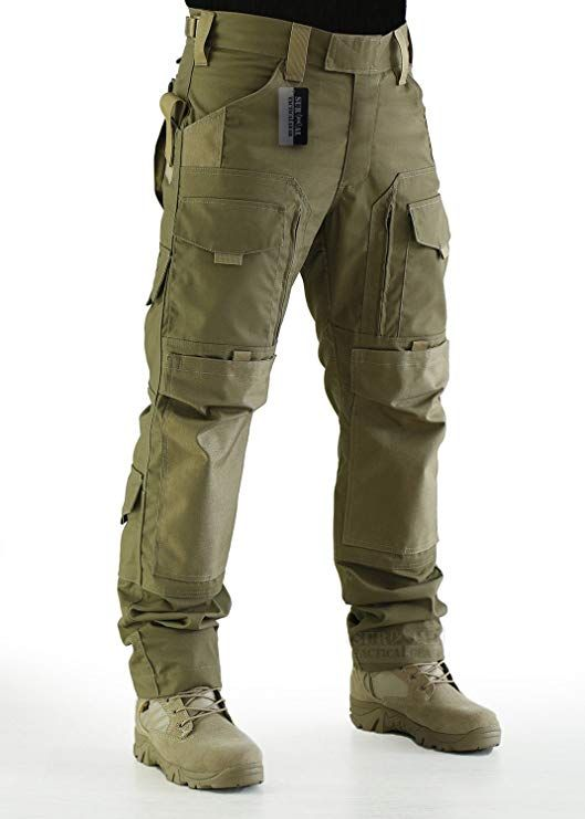 a8949f0a ZAPT Tactical Molle Ripstop Combat Trousers Army Multicam/A-TACS LE Camo  Pants for Men, Knee Pads - Amazon Canada