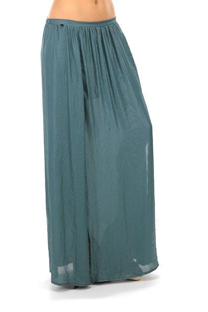 MANILA GRACE - Gonne - Abbigliamento - Maxi gonna con elastico in vita e spacco profondo sul davanti. La nostra modella indossa la taglia /EU 40. - MD224 - € 130.00