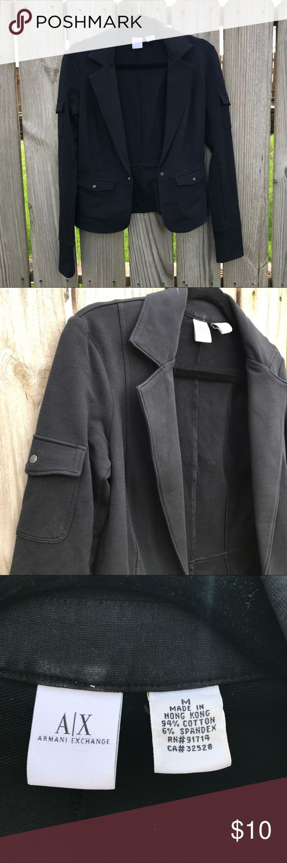 Armani Exchange casual blazer Really cute Armani Exchange blazer. Casual and fun. Pocket detail on the sleeves. Goes with any jean or dress combo. A/X Armani Exchange Jackets & Coats Blazers