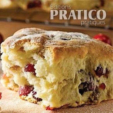 Scones aux canneberges - Recettes - Cuisine et nutrition - Pratico Pratique