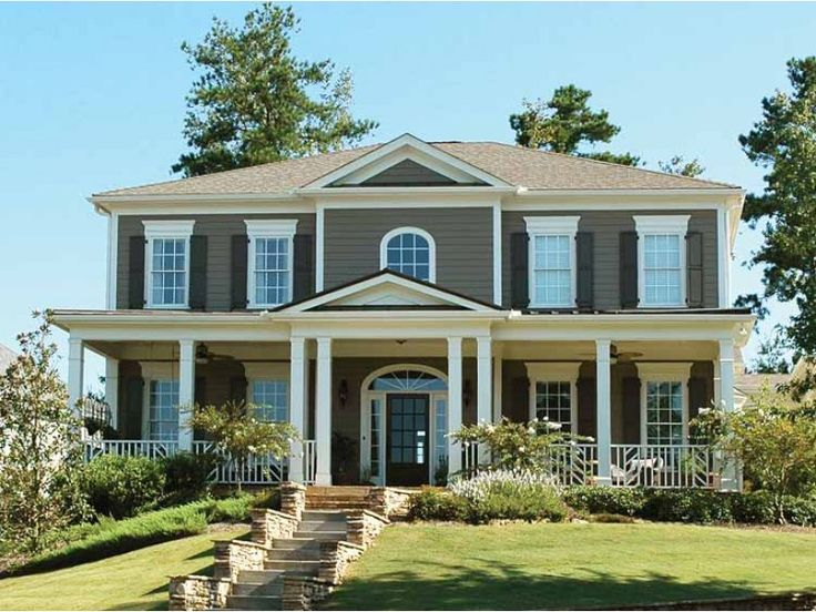 10 best front porch designs images on pinterest porch for Federal colonial house plans