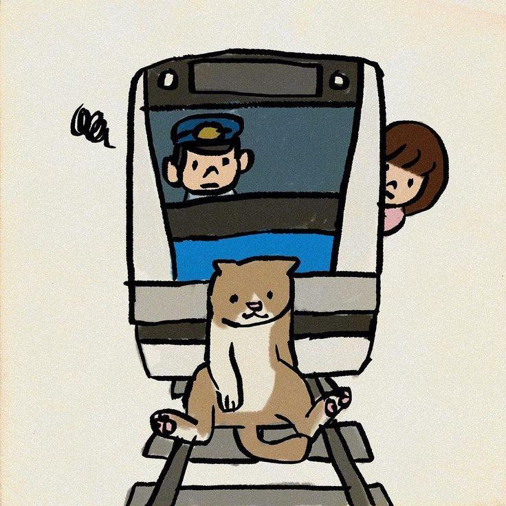#電車遅延 #京浜東北線 #イラスト