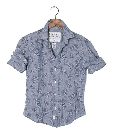 Womens Barry Linen Hibiscus Shirt