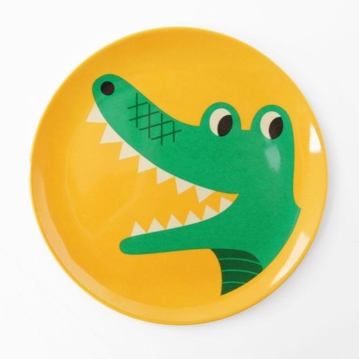 Ingela stoere krokodil melamine eetbord #Crocodile #Melamine #Plate by #Ingela P #Arrhenius from http://www.kidsdinge.com      https://www.facebook.com/pages/kidsdingecom-Origineel-speelgoed-hebbedingen-voor-hippe-kids/160122710686387?sk=wall  http://instagram.com/kidsdinge