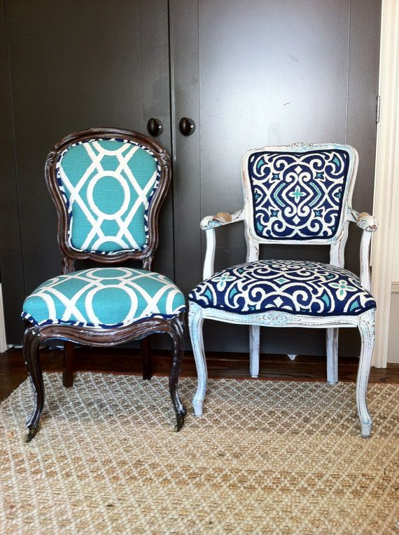 Set of 8 Eclectic Dining Chairs Custom order by THRONEupholstery