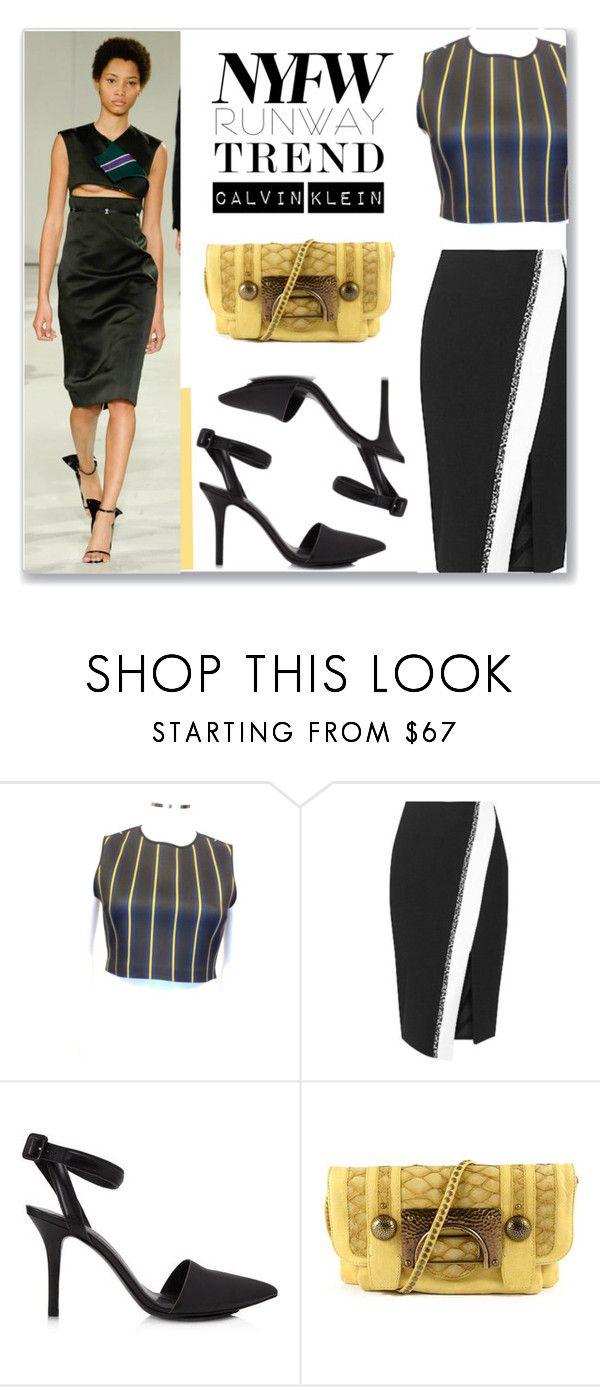"""NYFW Trends: Formal Velvet Calvin Klein"" by snobswap on Polyvore featuring Calvin Klein, Clover Canyon, Elizabeth and James, Alexander Wang and Diane Von Furstenberg"
