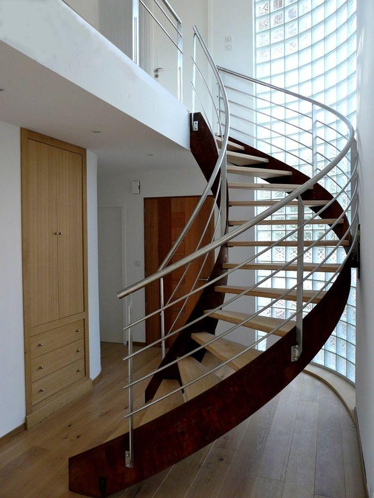 14 mejores im genes sobre escaleras en pinterest casa - Ver escaleras de caracol ...
