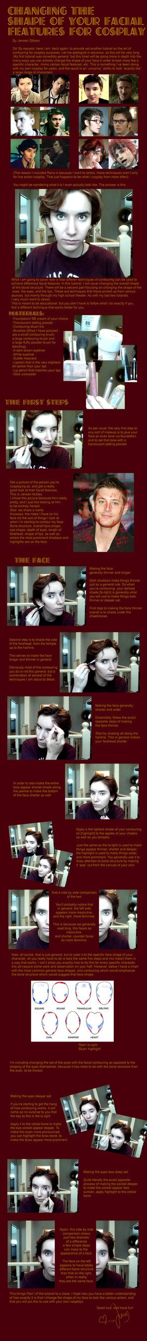 Changing the shape of your facial features, pt 1 by ~Sock-Monkey-Renegade on deviantART