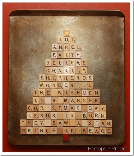 Magnetic Scrabble Tree