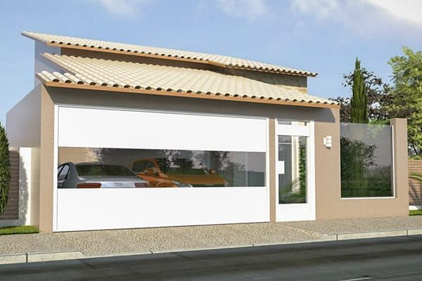 1000 ideas about casas com 3 quartos on pinterest for Casa moderna 90m2