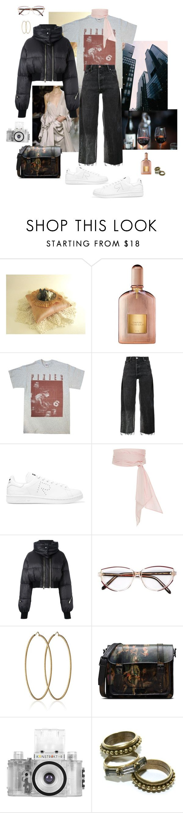 """styling jobs in Japan for a week; Day 5"" by syarina ❤ liked on Polyvore featuring Tom Ford, RE/DONE, adidas Originals, MDS Stripes, STELLA McCARTNEY, Givenchy, Carolina Bucci, Dr. Martens, Lomography and Flutter By Jill Golden"