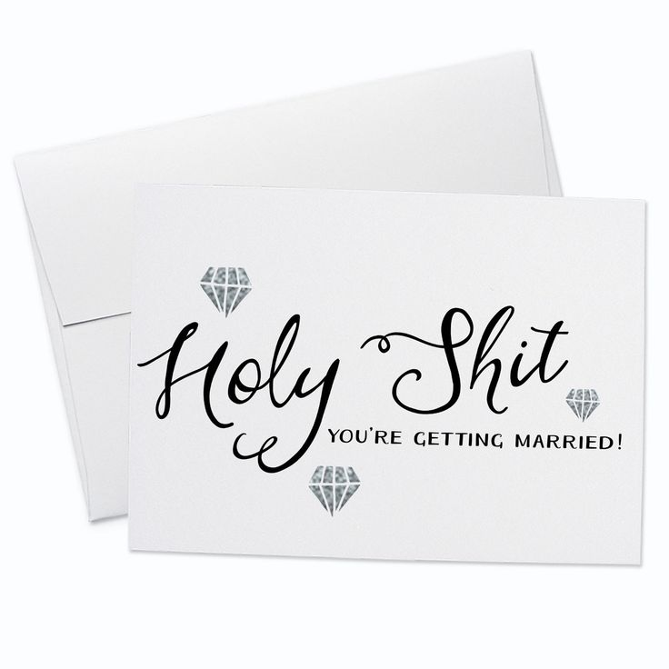 Holy Shit, You're Getting Married! Wedding Greeting Card / congratulations card / engagement card / funny wedding card / #greetingcards #foxandfancy