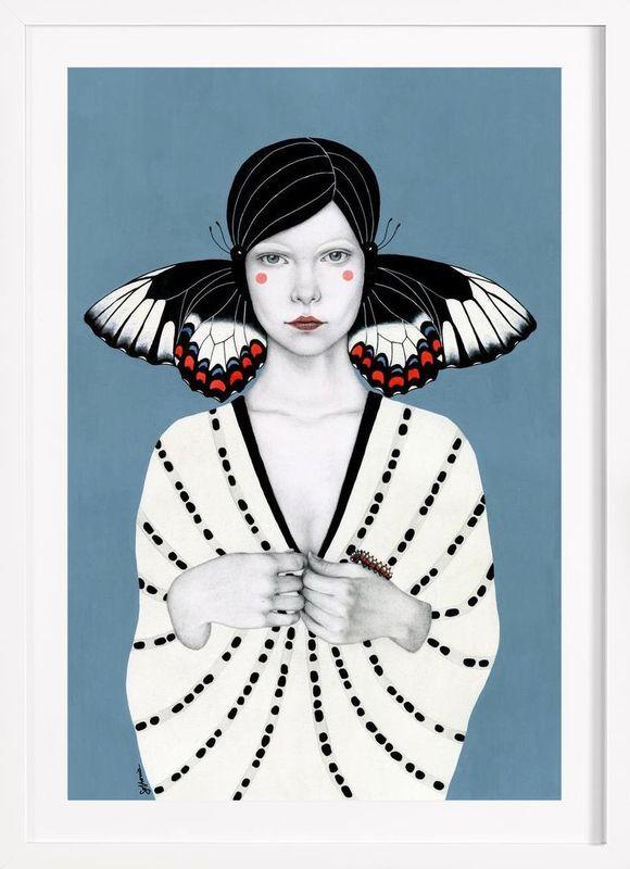 Mila en Affiche sous cadre en bois par Sofia Bonati   JUNIQE