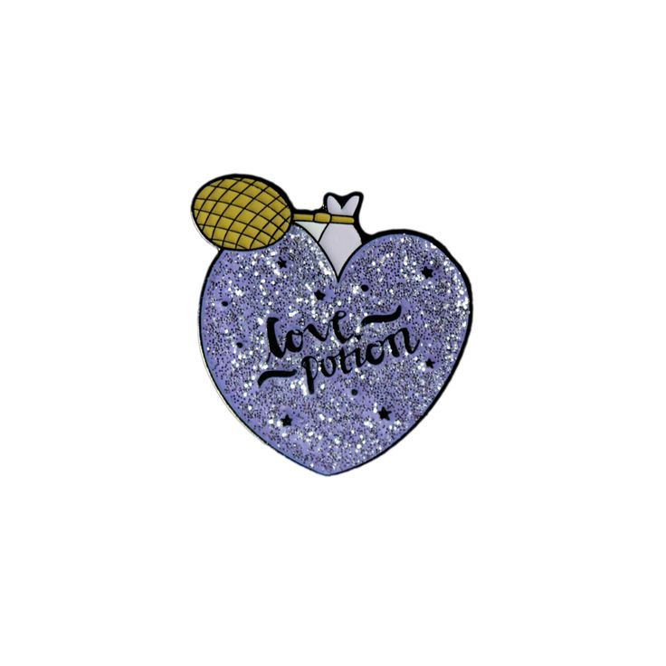 The perfect enamel pin for budding witches and wizards, this is an essential potion to conjure a very powerful love spell. This super rad badge is coloured in beautiful glittery purple enamel, coated with a clear epoxy and crafted into a metal badge ready to adorn your bag/lapel/whatever you can find to pin it to!  Our beautiful pin fastens with a butterfly closure and comes displayed on a HOW card.  A great size to fit on any bag, and the perfect accessory for any Harry Potter fans! The…