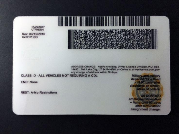 Best utah fake idfake id utah state in 2020 passport