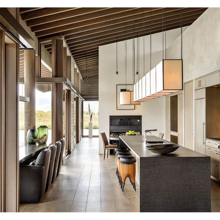Montana Ranch House By Suyama Peterson Deguchi: Neutral Fittings & Lofty Ceilings In A Stunning Montata