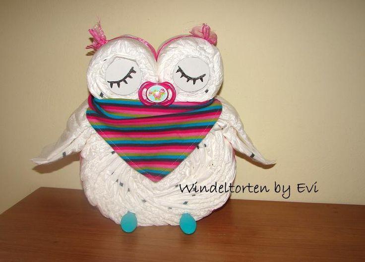 Windeleule, die etwas andere Windeltorte! von Windeltorten By Evi auf DaWanda.com