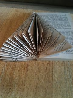 How To Make Angels and Christmas Trees From A Paperback Book