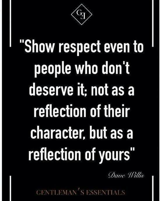 Picture quote: I chose this particular picture quote because it reminds me to not step out of character, even if people are rude. This a very important moral to have. At times in the past I would lose my cool if I felt someone was being disrespectful. This will prepare me for rude customers in the workforce. No matter what is going on, you should always be respectful when you are at work.