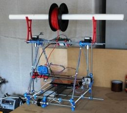 3D Printer - Homemade 3D printer constructed from aluminum and 3D-printed parts.