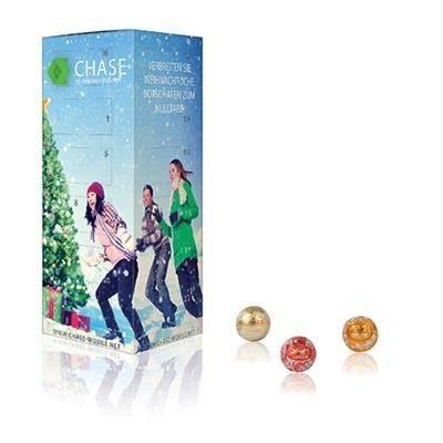 Image of Lindt Tower Chocolate Advent Calendar. Promotional Christmas Advent Calendar Containing 24 Lindor Chocolates.