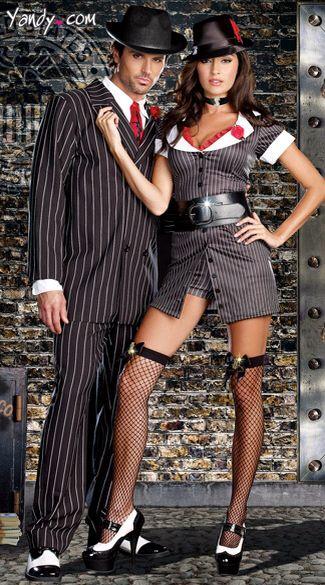 Couple's Gangster Halloween Costume