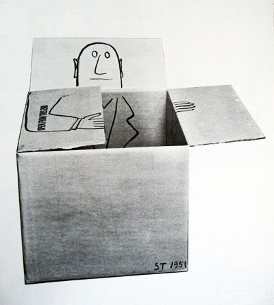 Saul Steinberg...man in the box