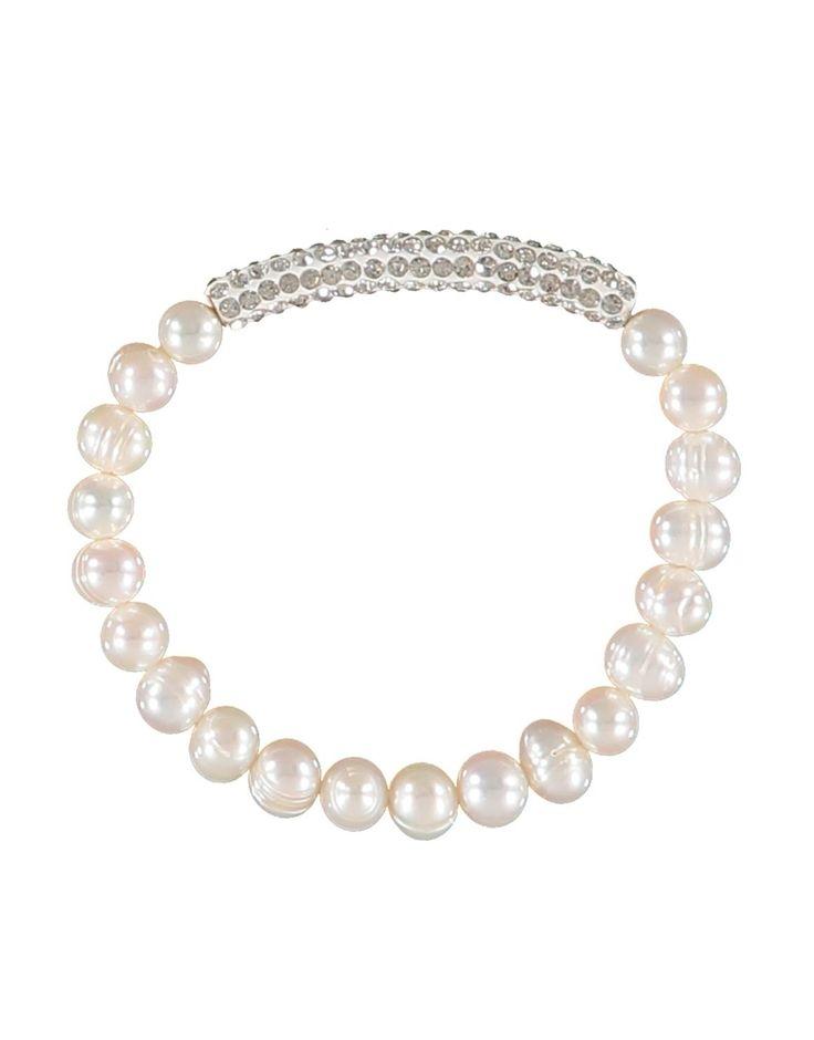 Pearl Pavé Bar Bracelet