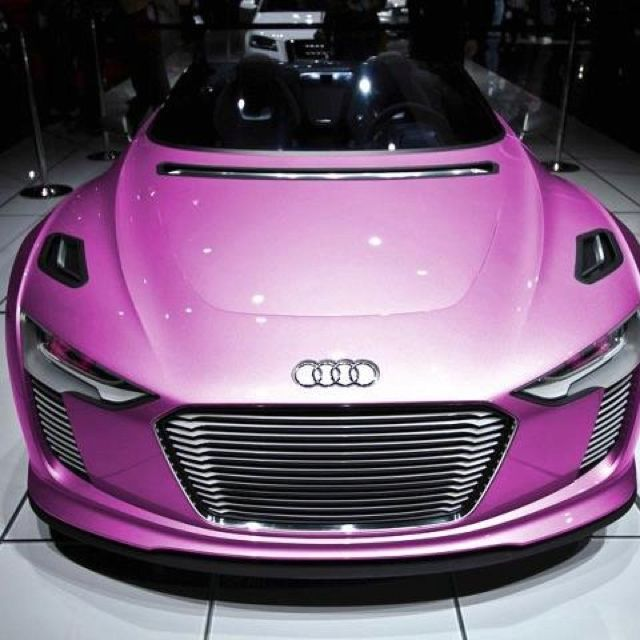 Pink Audi! Pink Cars, Pink Trucks, Pink SUV, Pink Jeep, pink convertible, Pink limo, Pink Hummer