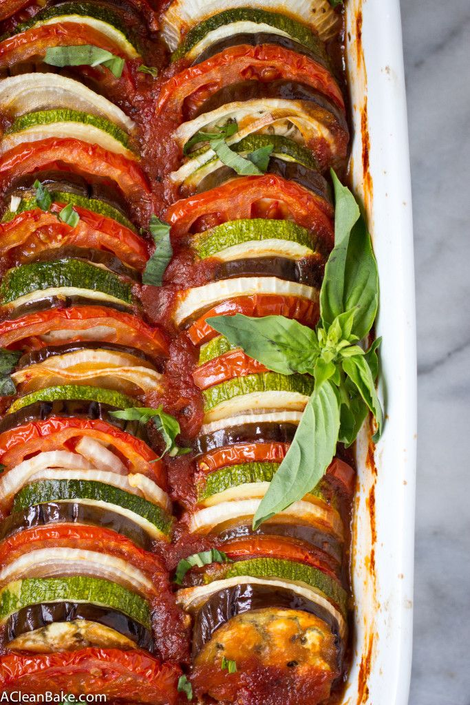 Ratatouille is a quick, veggie dish that comes together quickly for a fresh weeknight dinner. And it's suitable for gluten free, paleo and vegan diets!
