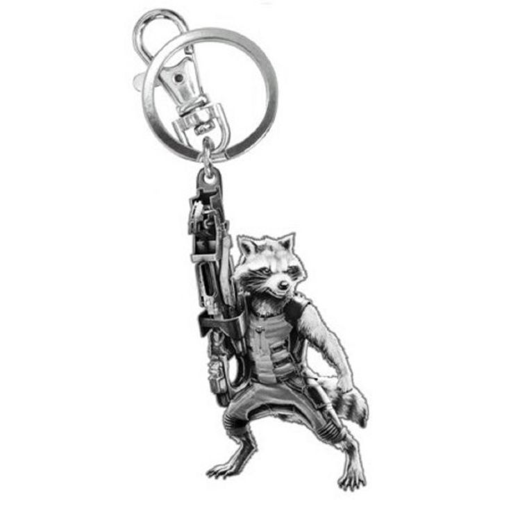 Guardians Of The Galaxy - Rocket Raccoon figure Pewter Keychain