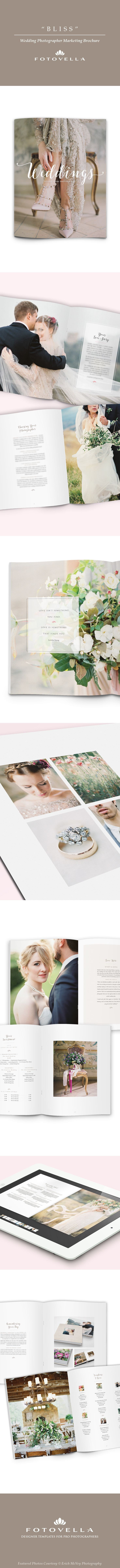 Wedding photographer marketing brochure / welcome guide template by FOTOVELLA • Photos by Erich McVey Photography