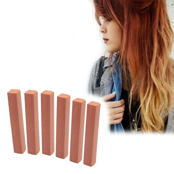 Toffee Brown Hair Dye | WARM AUBURN 6 Brown Hair Chalks | HairChalk  Light Brown Hair Color for your temporary hair dying fun! A complete 6 Hair Chalk Light Brown hair kit