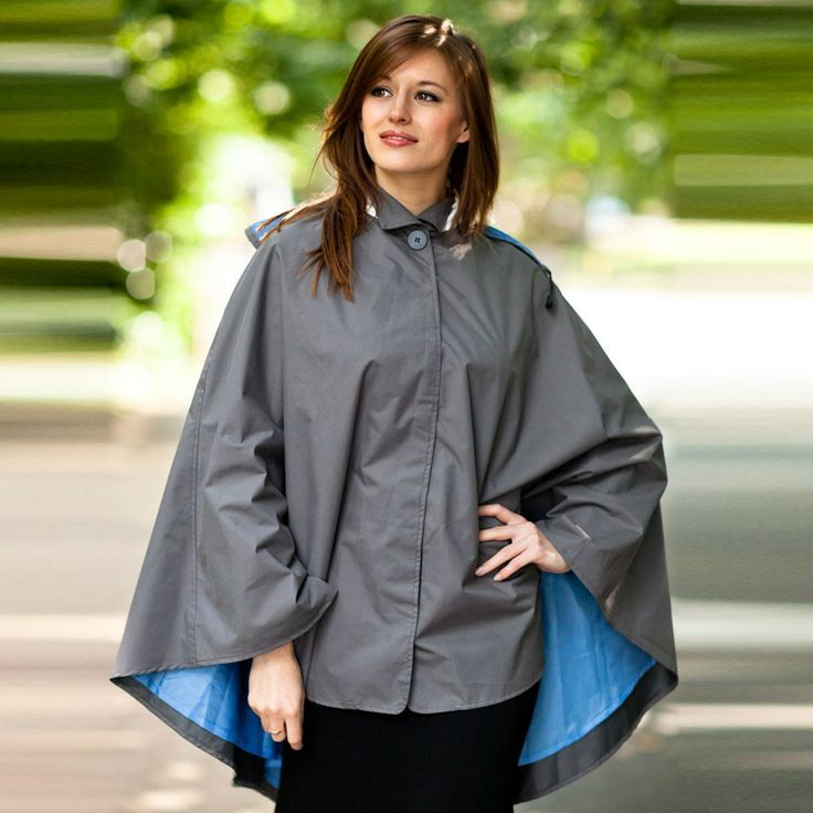 Water Off A Duck's Back Waterproof Cape (Grey): This beautiful cape is designed to be cycled in.  It is waterproof and breathable - even though it is a cape, cycling can still be a hot business, so the fabric is breathable.  The discrete reflective piping is not only an attractive detail to the coat, but it makes the rider visible to other road users after dark. £69