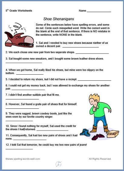 5th grade worksheets for fun spelling practice 5th grade spelling 5th grade worksheets. Black Bedroom Furniture Sets. Home Design Ideas
