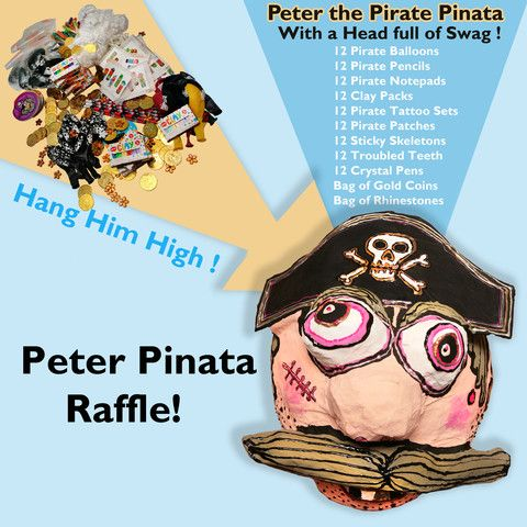 Peter the Pirate Piñata Giveaway! (Pete comes with a Head full of Swag!)