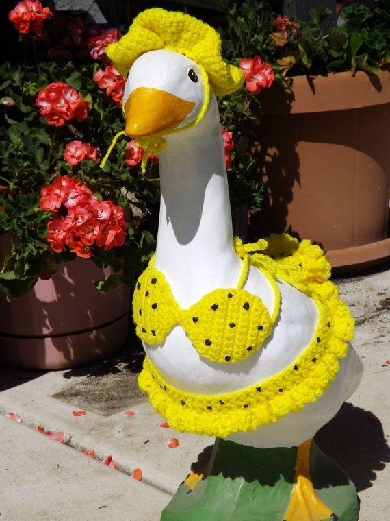Goose Bikinis For 25 Quot Ceramic Cement Goose Cement