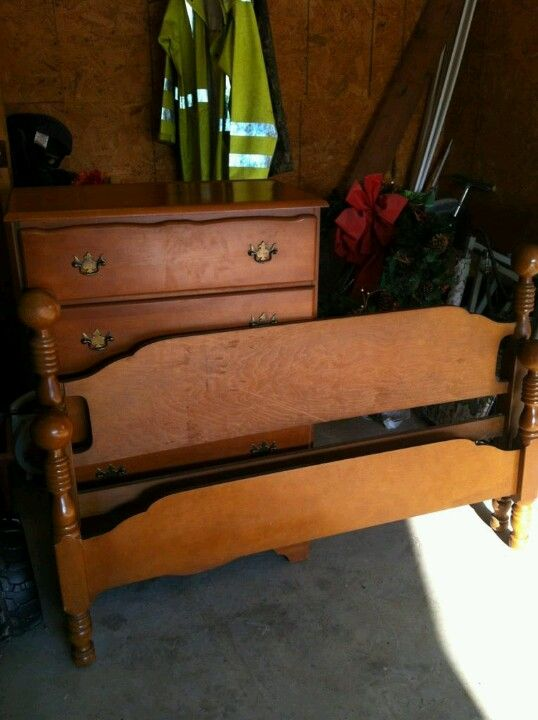 Refinished Furniture Before Old Bedroom Set My Projects