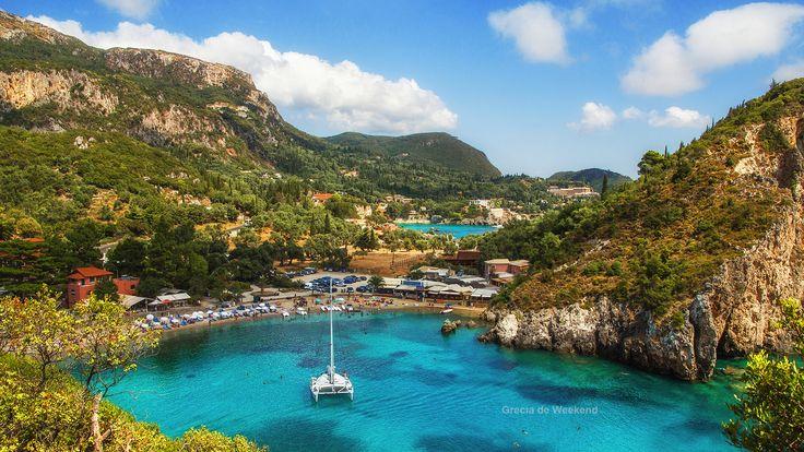 Statiunea Paleokastritsa, Insula Corfu - http://grecia.de-weekend.ro/paleokastritsa-corfu/