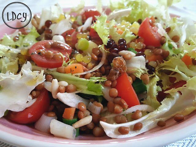 LOS DOMINGOS COCINO YO: ENSALADA DE LENTEJAS CON VERDURITAS/Lentils salad ...