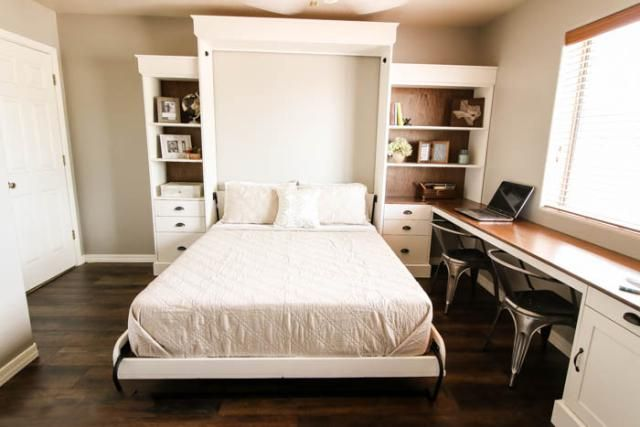 13 DIY Murphy Bed Projects For Every Budget: DIY This Modern Farmhouse Murphy Bed