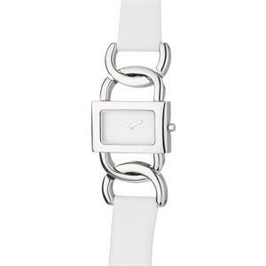Dolce Gabbana - woman watches -Montre en acier inoxydable sur bracelet en cuir blanc. Cadran argenté doté d'un affichage analogique. Mouvement quartz. Montre résistant à une pression de 3 Atm.