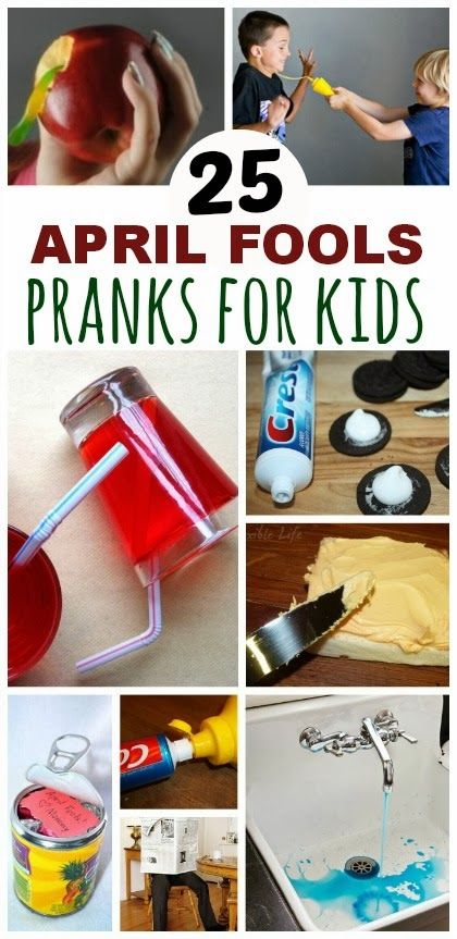 25 Hilarious April Fools Pranks To Play On The Kids ( & for kids to play on each other )