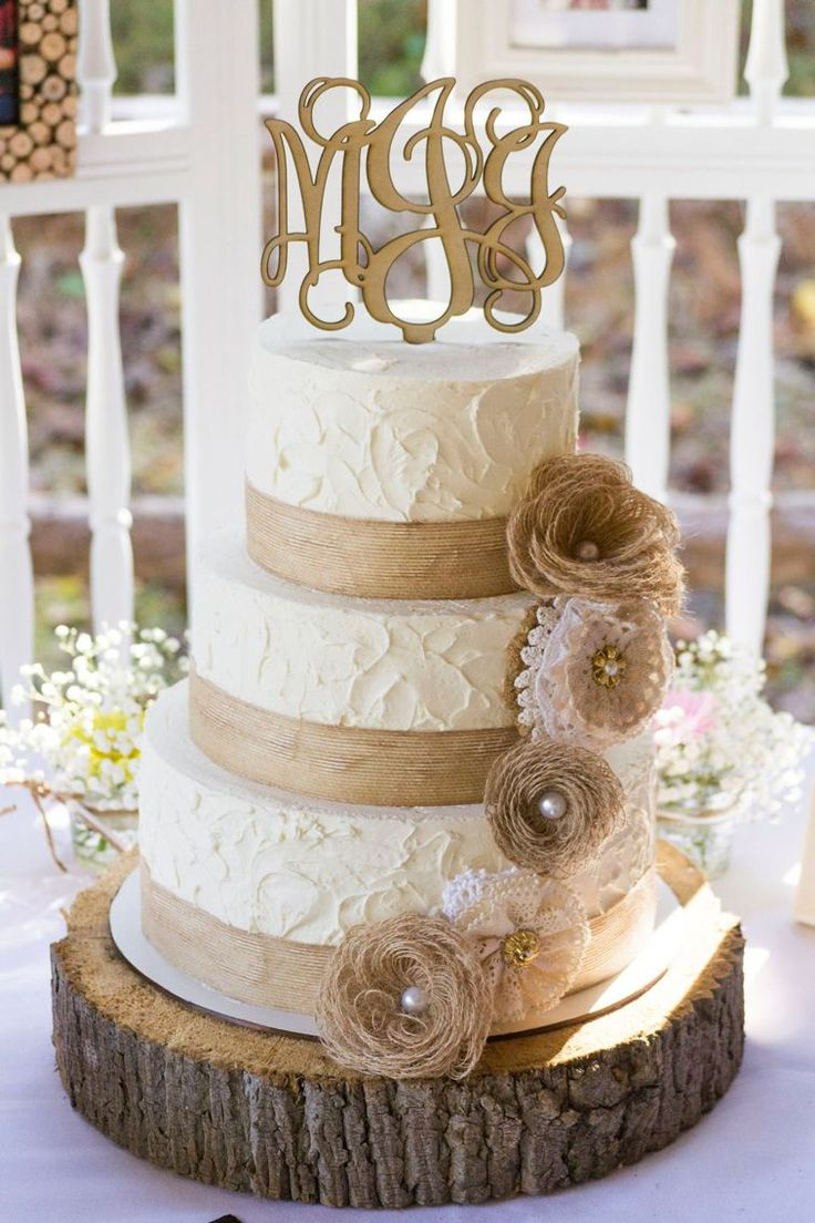 best Rustic wedding cakes images on Pinterest Conch fritters