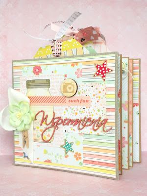 Hidden hinde scrapbooking mini album, scraping, scrap